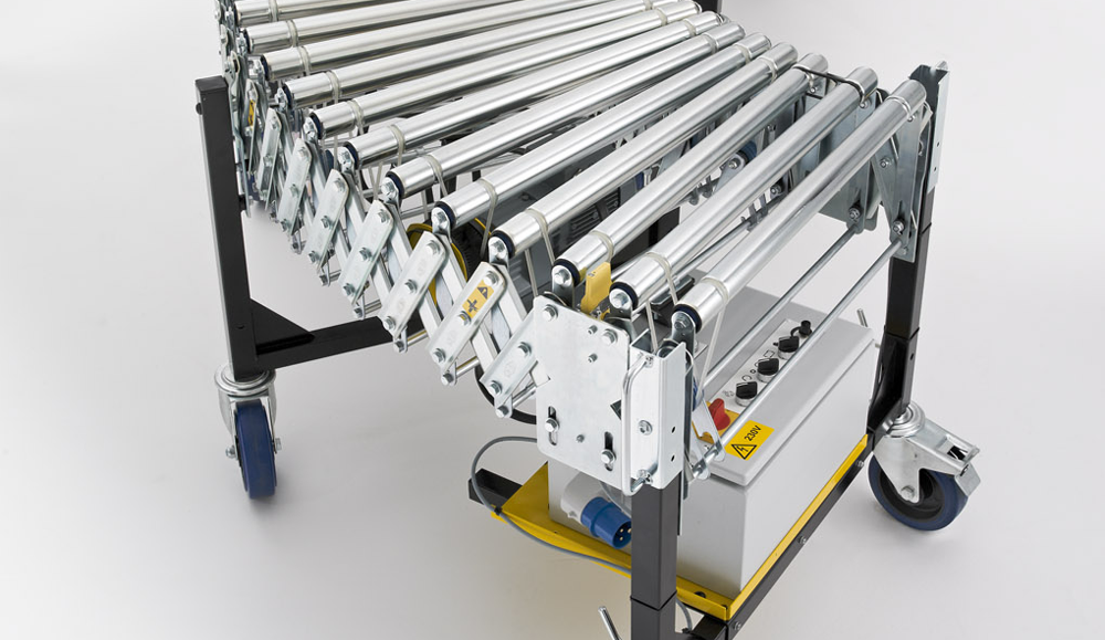 Painted Steel Flexible Powered Roller Conveyor - Conveyor Units