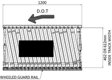Aluminium Lineshaft Powered Roller Conveyor – Pack Positioning Unit Technical Drawing
