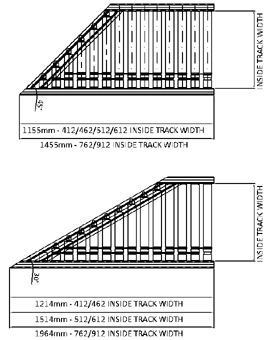 Aluminium 24V Motorised Roller Conveyor 'O' Ring – 45° Mitre Section Technical Drawing