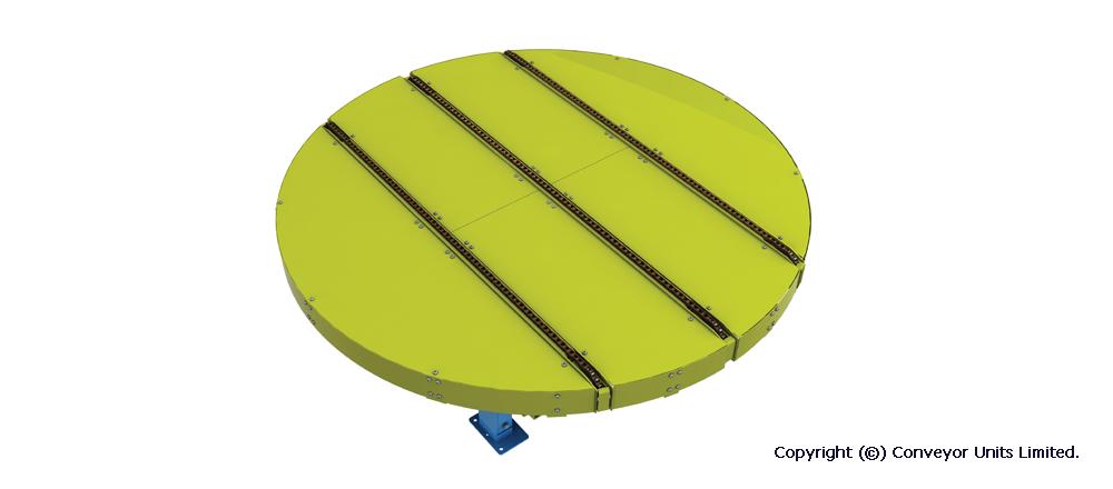 Painted Steel Pallet Handling Conveyor - Chain Turntable