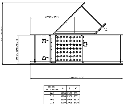 Aluminium Lineshaft Powered Roller Conveyor – Switch Sorter Technical Drawing