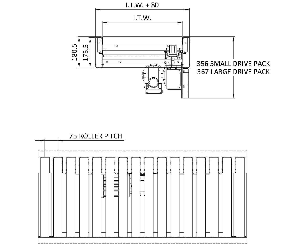 Painted Steel Belt Under Roller Conveyor - Overview - Conveyor Units