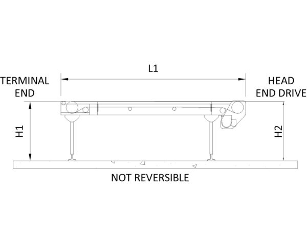 Painted Steel Belt Conveyor – A Type Technical Drawing