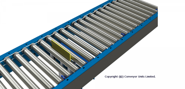 Painted Steel 24V DC Powered Conveyor – Electric Ancillaries Technical Drawing