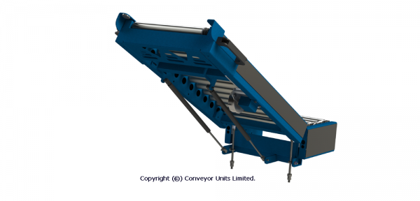 Painted Steel 24V DC Powered Conveyor – Lift Up Gates – Zero Line Pressure or Transport Technical Drawing