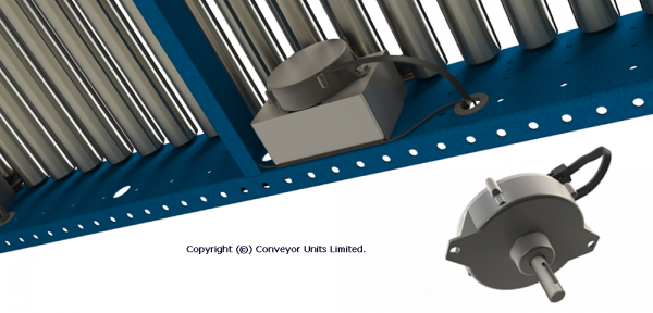 Painted Steel 24V DC Powered Conveyor – Advantages & Choice of Motor Powers Technical Drawing